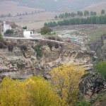 """Alhama de Granada perched on top of a hill"""
