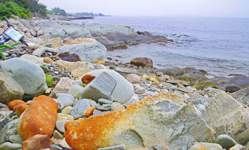 Scenery on a bike ride along the south shore of Nova Scotia