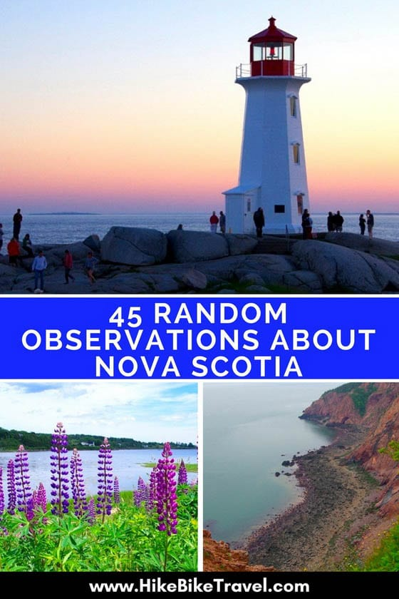 45 Random Observations About Nova Scotia