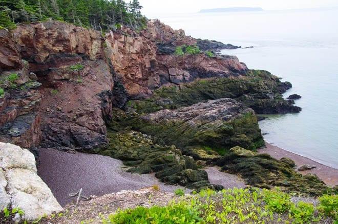 """Coastal scene at low tide"""