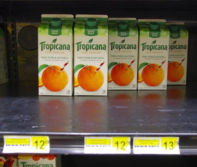 """""""Orange juice for $12.79 in Iqaluit"""""""