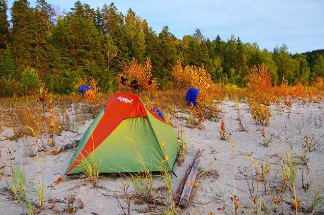 """My one man Eureka tent at sunset"""
