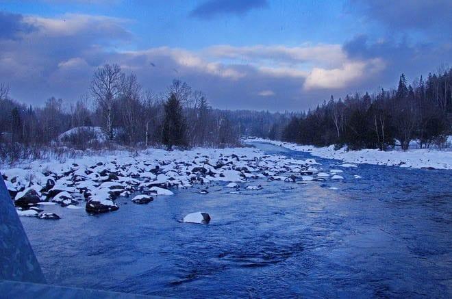 """The Madawaska River just outside Algonquin Park"""