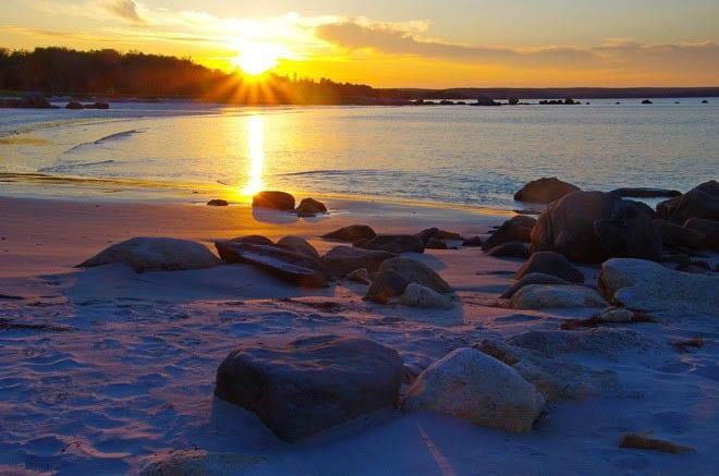 """Sunset over Seaside Kejimkujik National Park"""