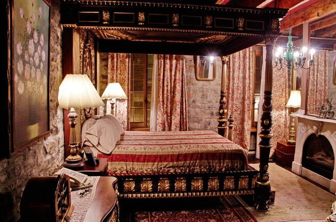 """My bedroom - complete with a gorgeous four poster bed"""