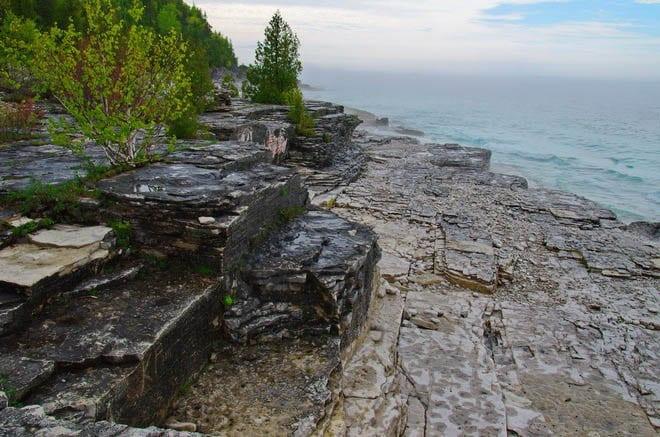 """Rock benches around the Stormhaven campsite"""
