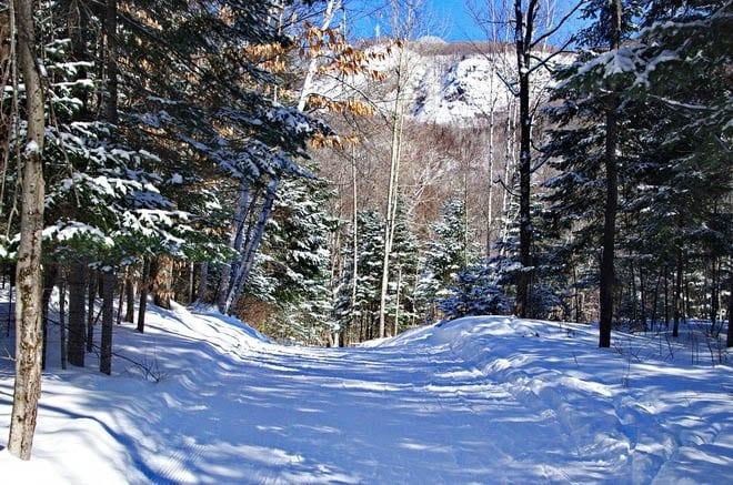 """The ski hills at Saint-Bernard near Mont Tremblant"""