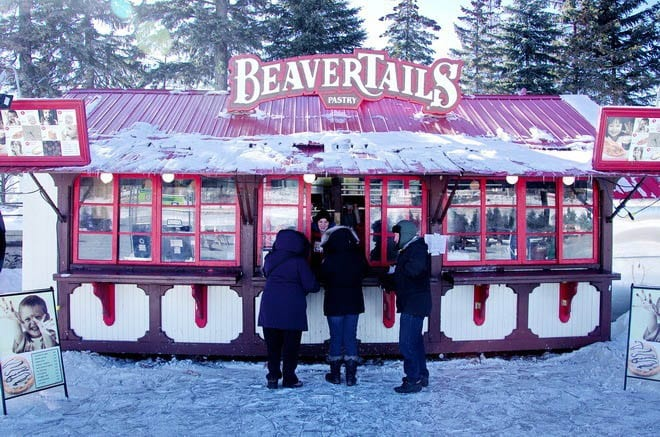 """There are several places to buy Beavertails along the Rideau Canal"""