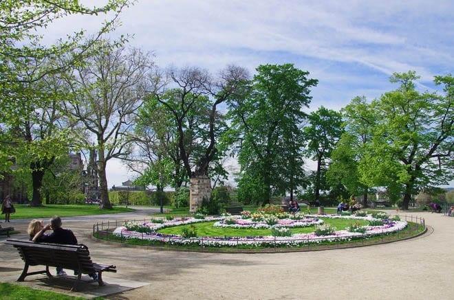 """The Bruhlscher Garden in Dresden"""
