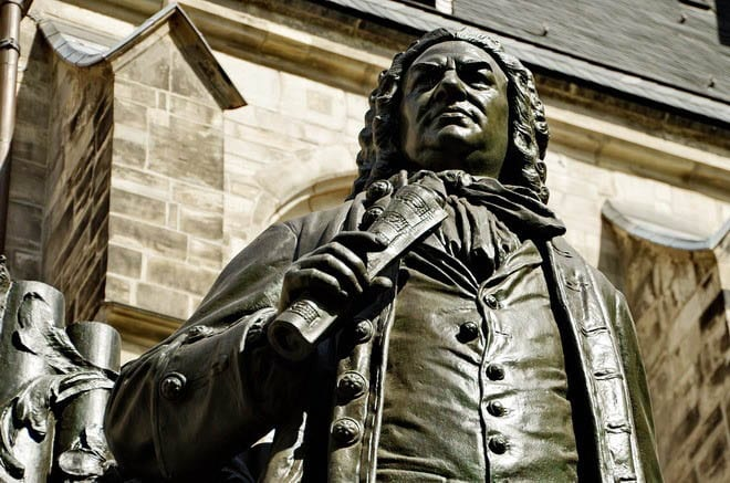 """Statue of Johann Sebastian Bach outside of The St. Thomas Church"""