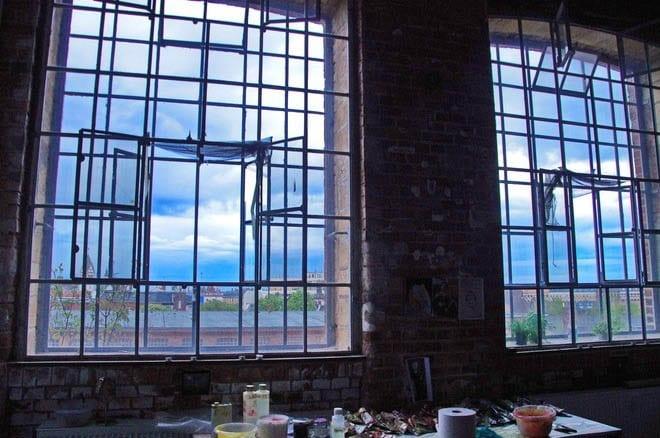 """Artist studio in the Leipzig cotton mill"""