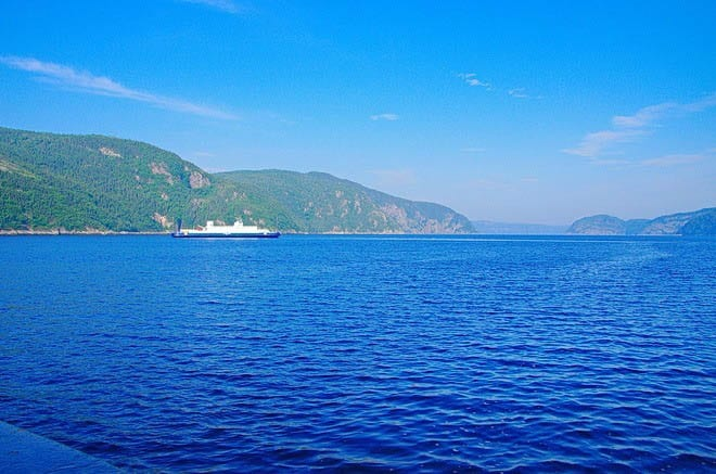 """The view down the Saguenay Fjord"""