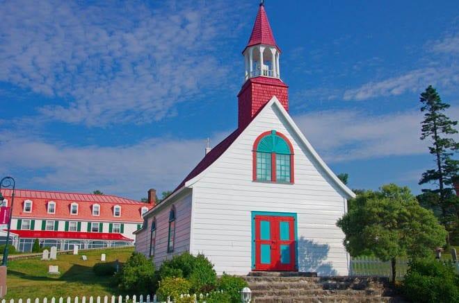 """A beautiful church in Tadoussac built in 1747"""