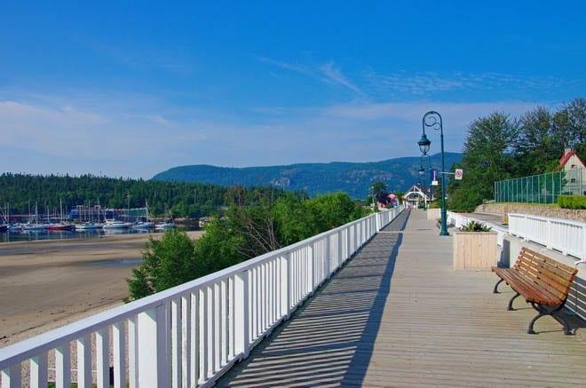 """Pretty boardwalk along the beach in Tadoussac"""