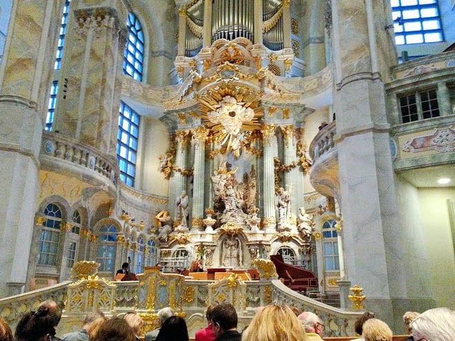 """Inside the Frauenkirche"""