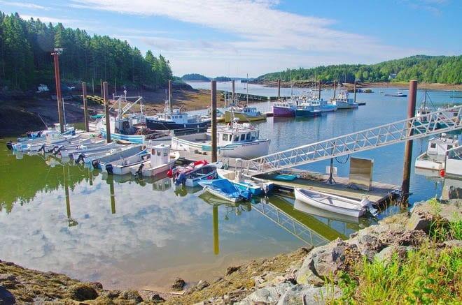 """Inner harbour on Deer Island"""