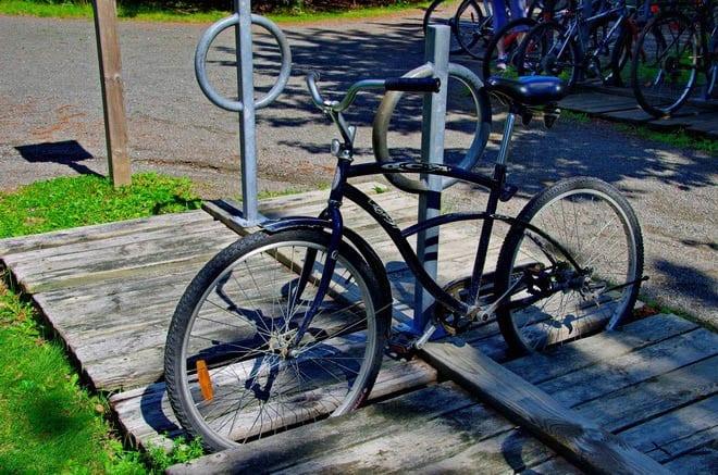 """""""My rental bike with no gears"""""""