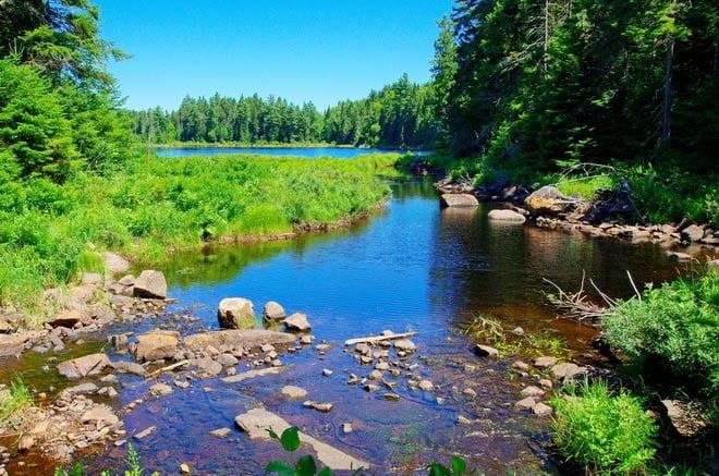 """Pimbina Lake - the fourth one on the hike"""