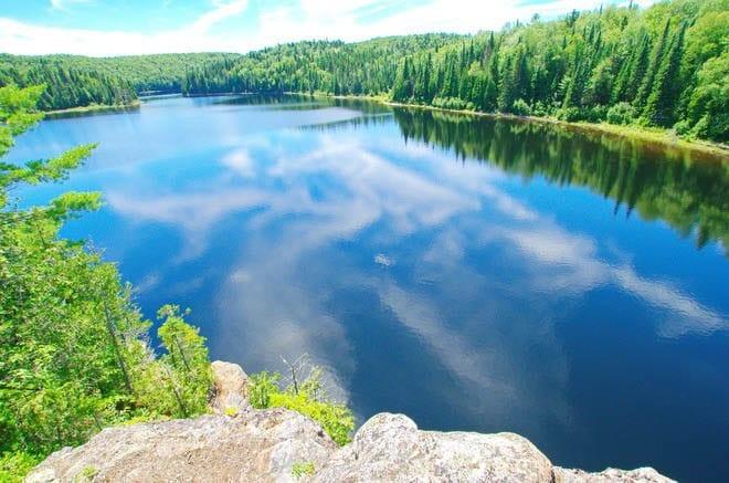 """The view down Bouchard Lake"""