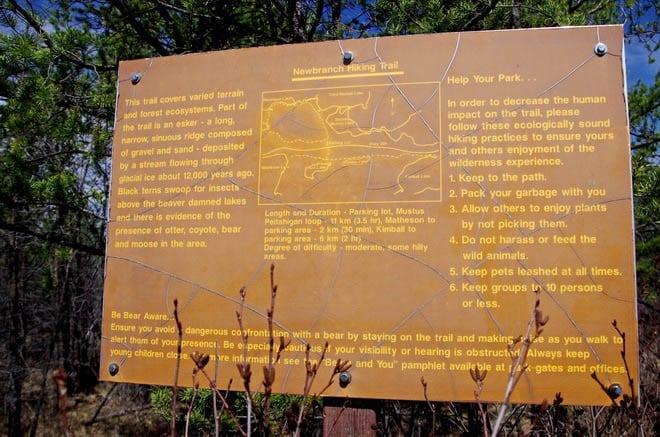 """""""Big sign illustrating the 11 km Mustus Loop"""""""