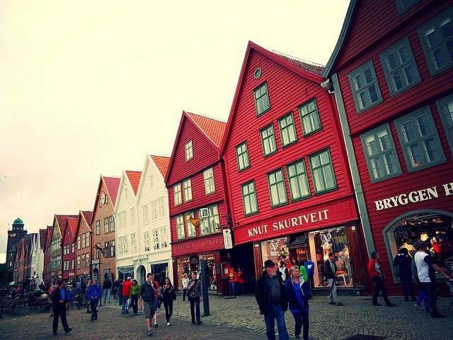 """The streets of Bryggen, Bergen"""