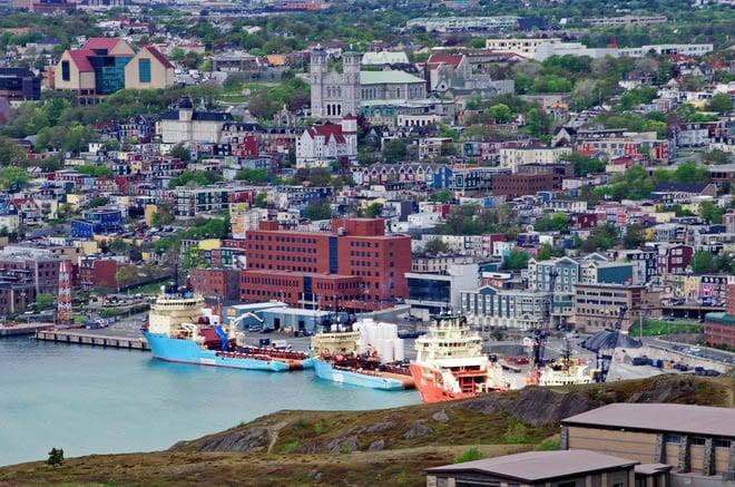 """A beautiful view of downtown St. John's from Signal Hill"""