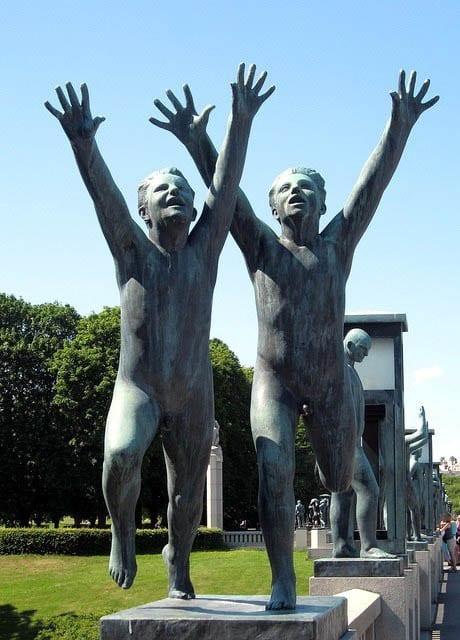 """Statues in Frogner Park, Oslo"""