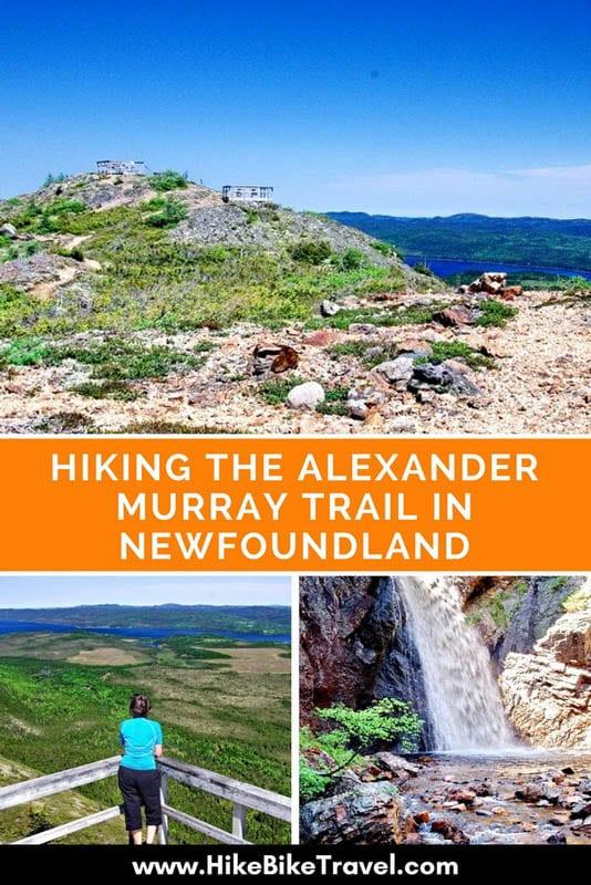 Hiking the Alexander Murray Trail near King's Point, Newfoundland