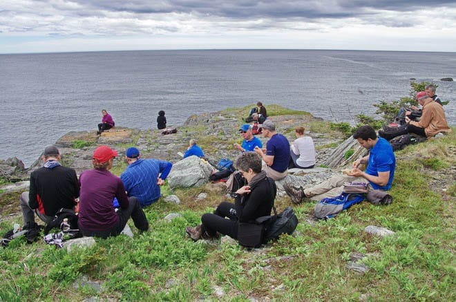 """""""lunch at Berry Head sea arch"""""""