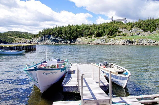 """The boat used in the Rugged Beauty Boat Tour - out of Trinity Bay"""