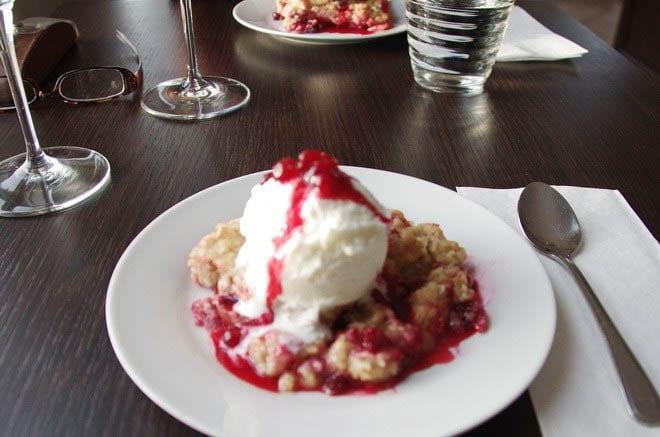 """Partridgeberry crumble"""