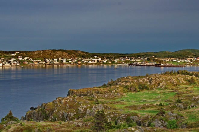 """Twillingate from our B&B - after kayaking & dinner"""