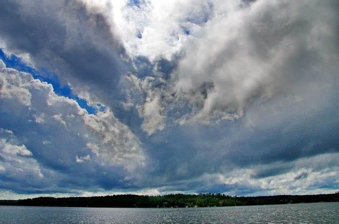 """Amazing skies over Caddy Lake"""