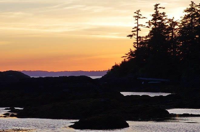 """A classic West Coast sunset"""