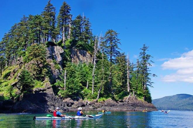 """Kayaking around Gordon Island"""