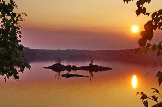 """""""Sunset over Hidden Lake"""""""