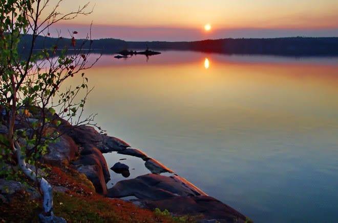 """Hidden Lake sunset"""