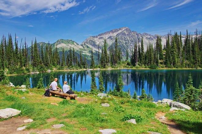 """View of Eva Lake"""