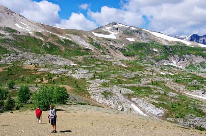"""Looking across to Quartz Hill, Banff National Park"""