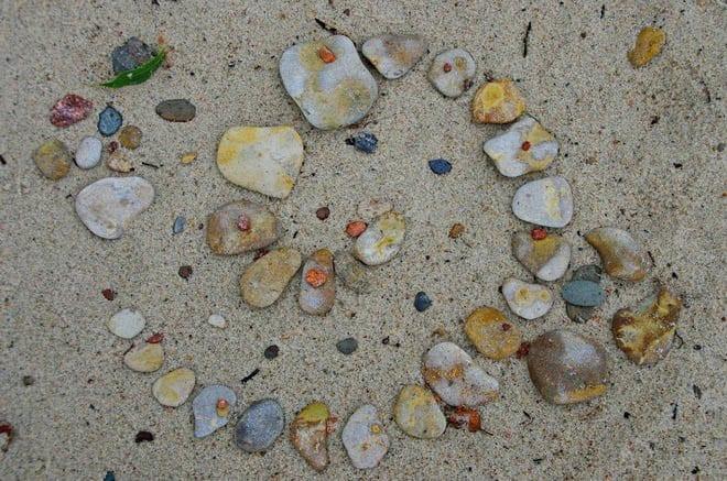 """""""Sand art on the beach"""""""