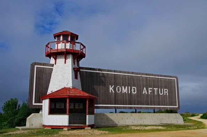 """Komid aftur means Come again in Icelandic"""
