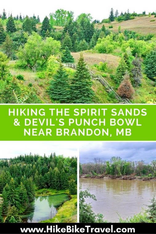 Hiking the Spirit Sands & Devil's Punchbowl near Brandon, Manitoba