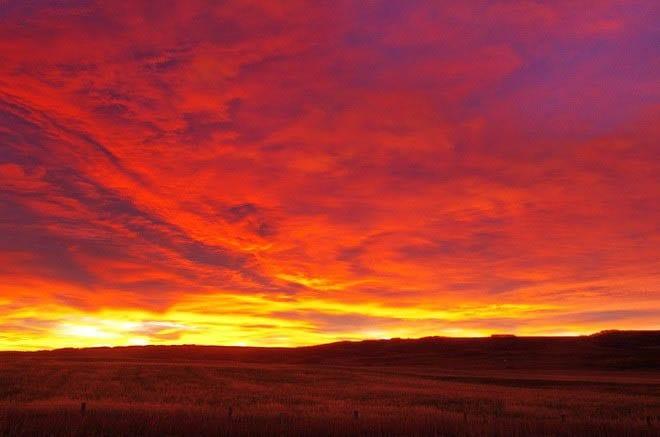 """""""Sunrise in Millarville on the way to Kanana"""""""