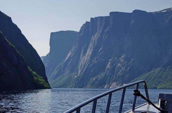 Stunning cliffs surround much of Western Brook Pond