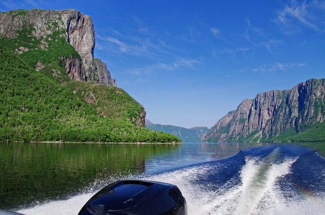 Boat ride on Western Brook Pond, Gros Morne NP
