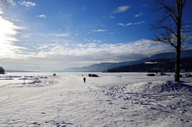 Skating, Skiing & Biking the Lake Windermere Whiteway