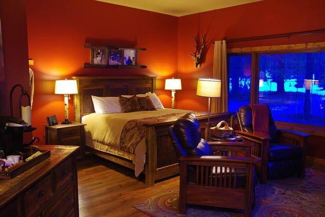 Our room at the Prairie Creek Inn