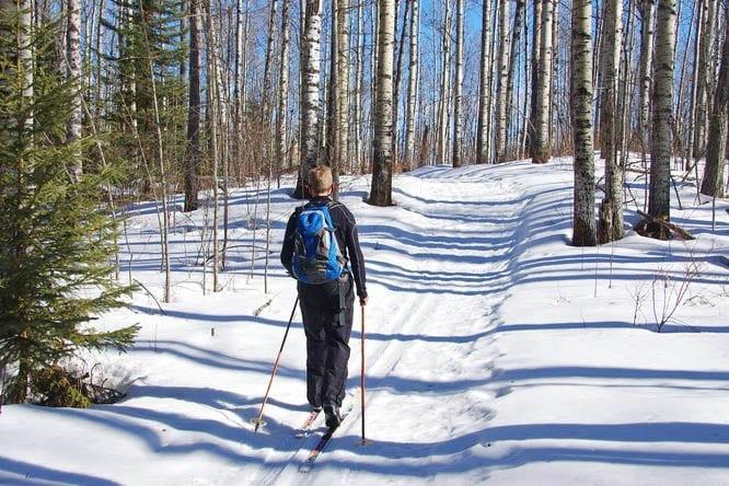 Crimson Lake Provincial Park skiing