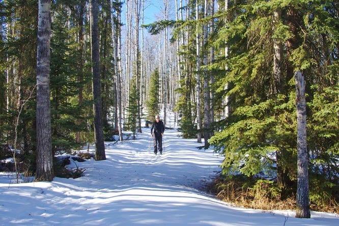 Delightful skiing around Crimson Lake
