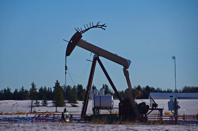 There are a lot of oil wells in the area